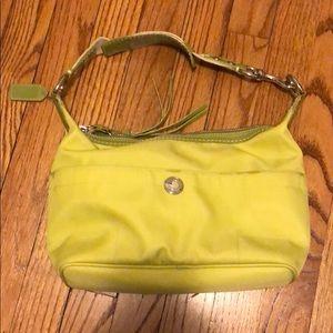 Coach spring green nylon shoulder bag
